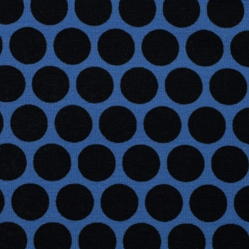 French Terry Lots of Dots by Lycklig Design royalblau