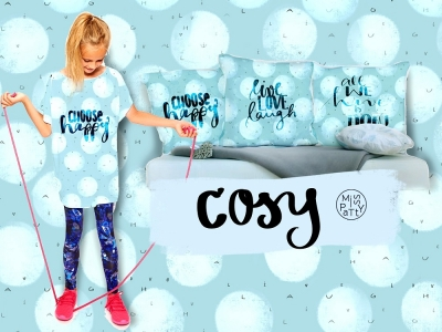 French Terry Panel Cosy Dots - Kissenpanel - live - laugh - love